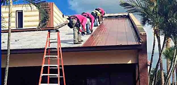 Roof repair mobile header